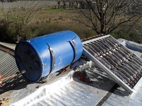calentador casero solar