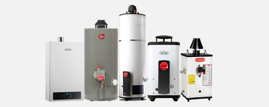 tipos de calentadores de agua
