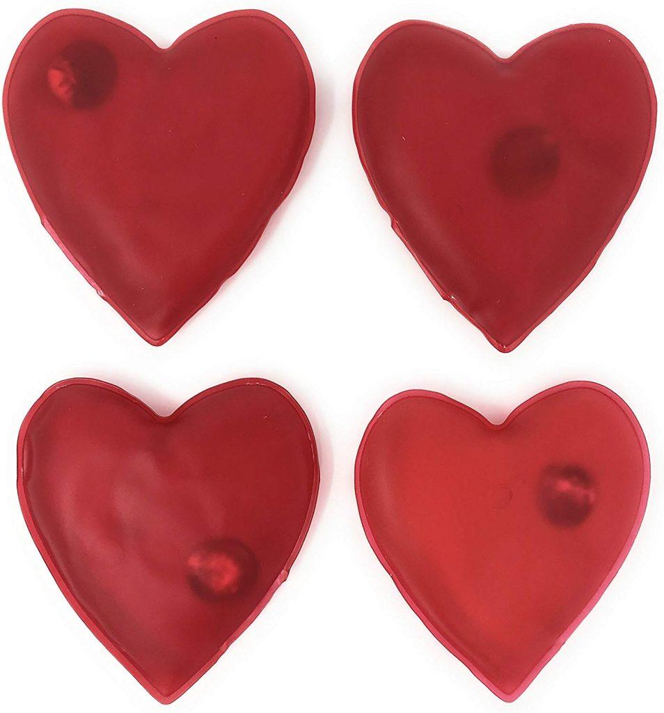 calentadores de manos en forma de corazon