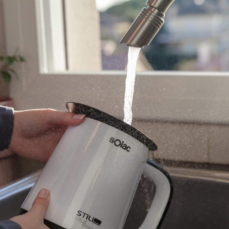 limpiar calentador de leche