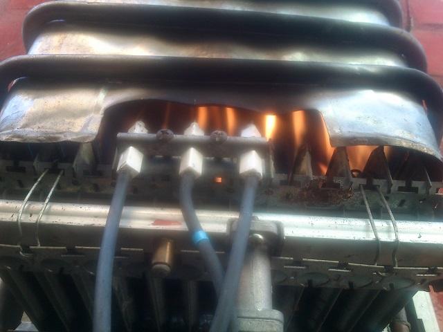 quemadores de calentador a gas